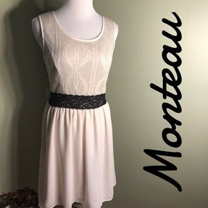 L Monteau midi length dress
